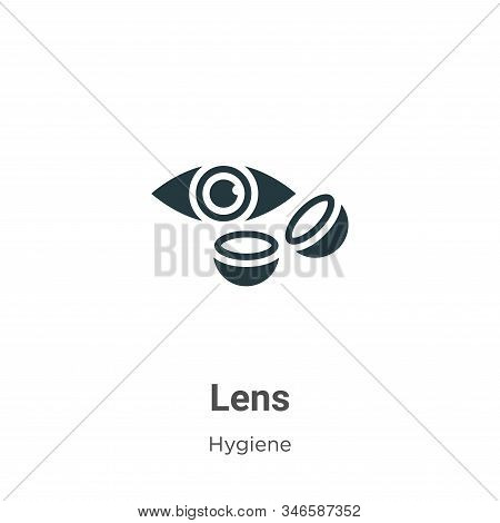 Lens icon isolated on white background from hygiene collection. Lens icon trendy and modern Lens sym