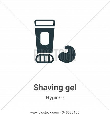 Shaving gel icon isolated on white background from hygiene collection. Shaving gel icon trendy and m