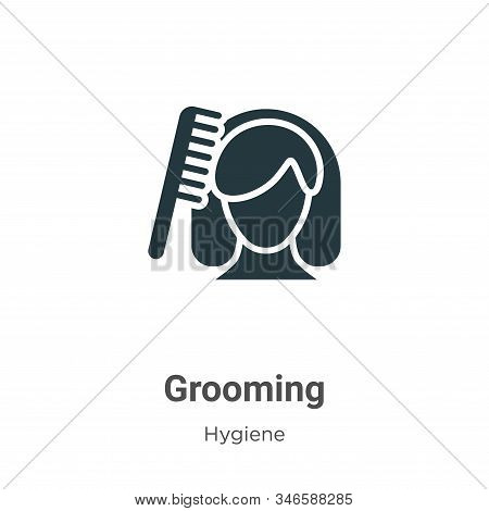 Grooming Glyph Icon Vector On White Background. Flat Vector Grooming Icon Symbol Sign From Modern Hy