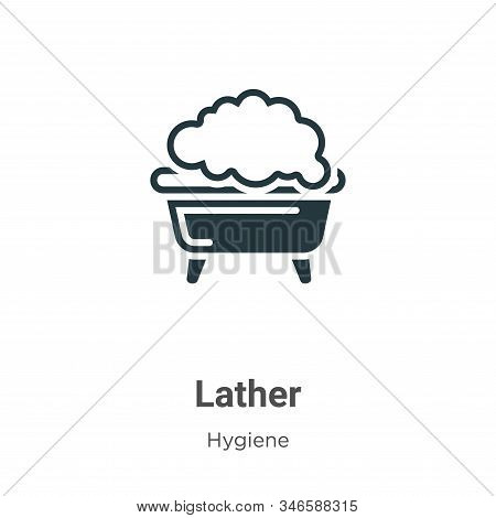 Lather icon isolated on white background from hygiene collection. Lather icon trendy and modern Lath