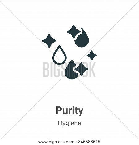 Purity icon isolated on white background from hygiene collection. Purity icon trendy and modern Puri