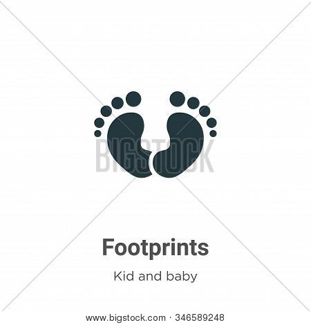 Footprints icon isolated on white background from kid and baby collection. Footprints icon trendy an