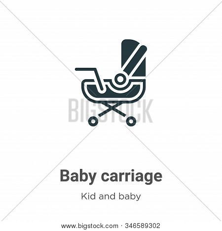 Baby carriage icon isolated on white background from kid and baby collection. Baby carriage icon tre
