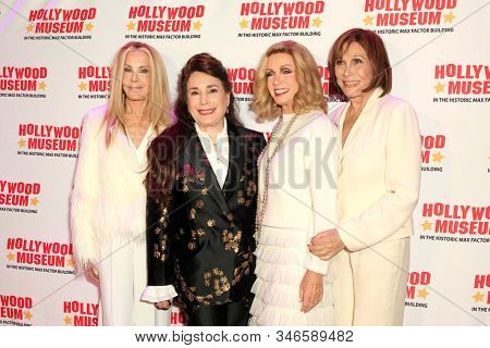 LOS ANGELES - JAN 18: Joan Van Ark, Donelle Dadigan, Donna Mills, Michele Lee at the Hollywood Museum's celebration for the 40th Anniversary of