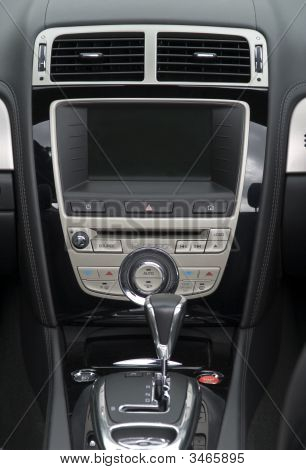 Center Console And Gear Stick On Luxury Saloon Car
