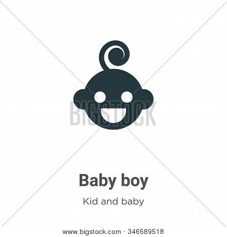 Baby boy icon isolated on white background from kid and baby collection. Baby boy icon trendy and mo
