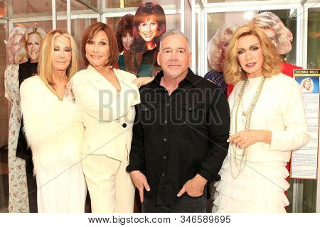 LOS ANGELES - JAN 18: Joan Van Ark, Donna Mills, Michele Lee, Michael Fairman at the Hollywood Museum's celebration for the 40th Anniversary of