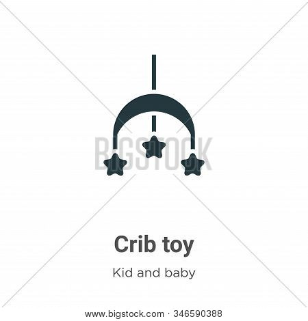 Crib toy icon isolated on white background from kid and baby collection. Crib toy icon trendy and mo