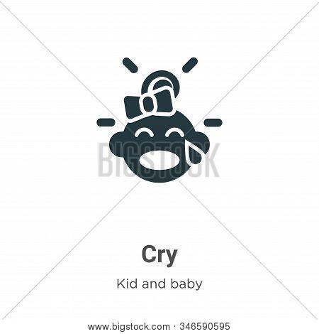 Cry icon isolated on white background from kid and baby collection. Cry icon trendy and modern Cry s
