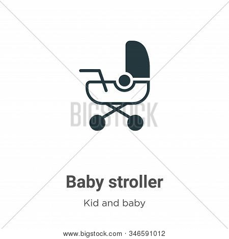 Baby stroller icon isolated on white background from kids and baby collection. Baby stroller icon tr