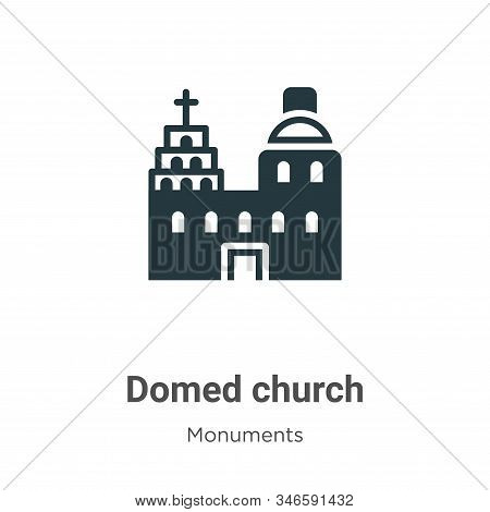 Blue domed church icon isolated on white background from monuments collection. Blue domed church ico