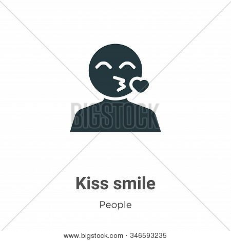 Kiss smile icon isolated on white background from people collection. Kiss smile icon trendy and mode