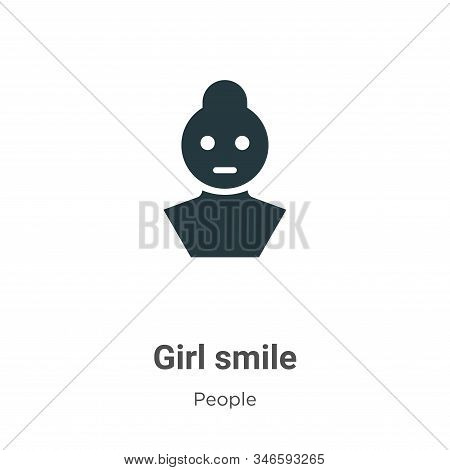 Girl smile icon isolated on white background from people collection. Girl smile icon trendy and mode