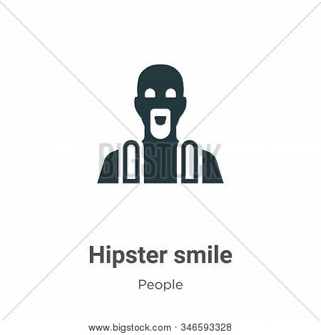 Hipster smile icon isolated on white background from people collection. Hipster smile icon trendy an