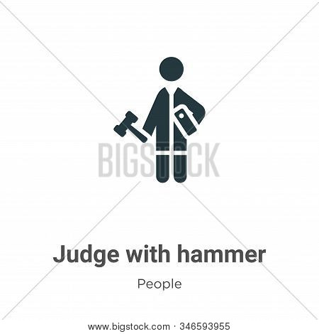 Judge with hammer icon isolated on white background from people collection. Judge with hammer icon t