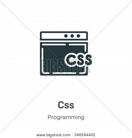 Css Glyph Icon Vector On White Background. Flat Vector Css Icon Symbol Sign From Modern Programming