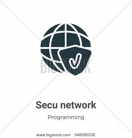 Secured network icon isolated on white background from programming collection. Secured network icon