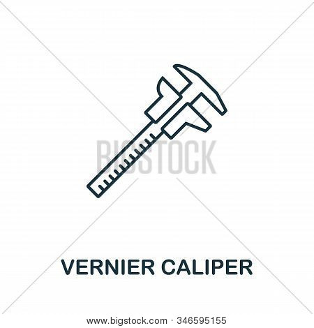 Vernier Caliper Line Icon. Thin Style Element From Construction Tools Icons Collection. Outline Vern