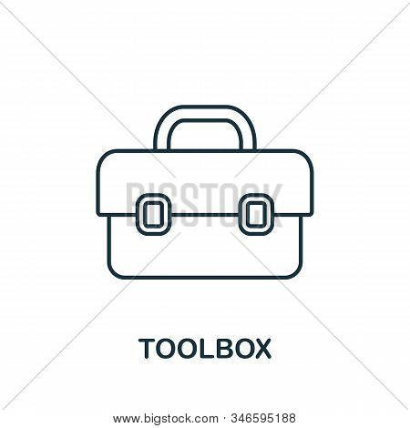 Toolbox Line Icon. Thin Style Element From Construction Tools Icons Collection. Outline Toolbox Icon
