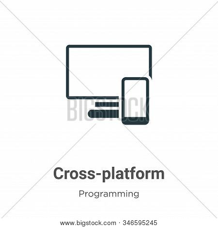 Cross-platform icon isolated on white background from programming collection. Cross-platform icon tr