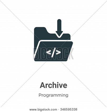Archive icon isolated on white background from programming collection. Archive icon trendy and moder
