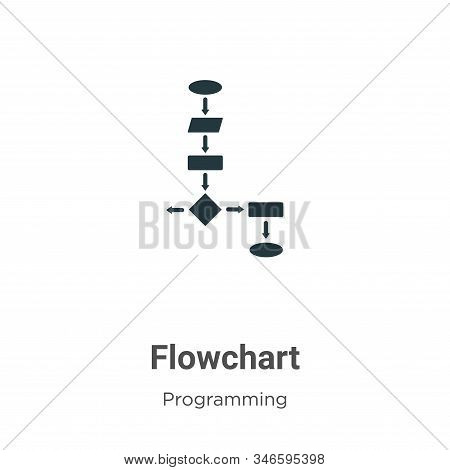 Flowchart icon isolated on white background from programming collection. Flowchart icon trendy and m