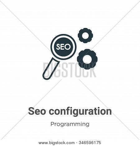 Seo configuration icon isolated on white background from programming collection. Seo configuration i