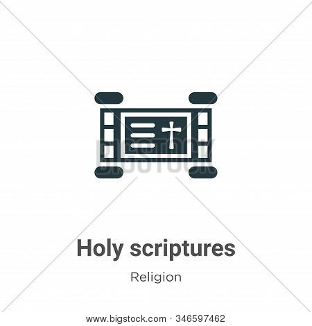 Holy Scriptures Glyph Icon Vector On White Background. Flat Vector Holy Scriptures Icon Symbol Sign