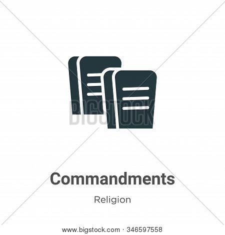 Commandments Glyph Icon Vector On White Background. Flat Vector Commandments Icon Symbol Sign From M