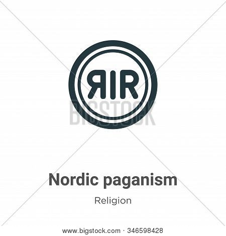 Nordic Paganism Glyph Icon Vector On White Background. Flat Vector Nordic Paganism Icon Symbol Sign
