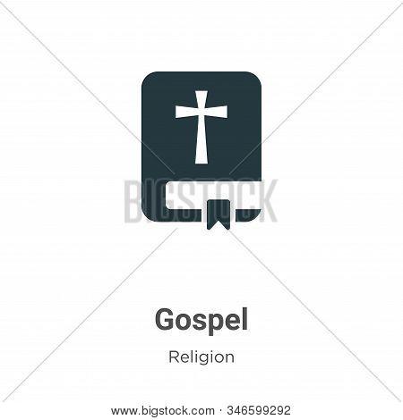 Gospel Glyph Icon Vector On White Background. Flat Vector Gospel Icon Symbol Sign From Modern Religi