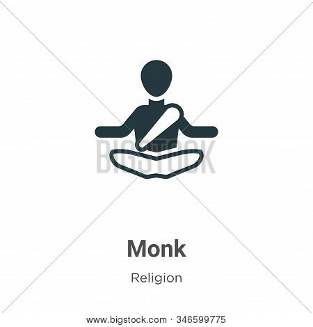 Monk icon isolated on white background from religion collection. Monk icon trendy and modern Monk sy