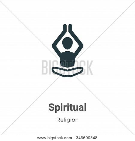 Spiritual icon isolated on white background from religion collection. Spiritual icon trendy and mode