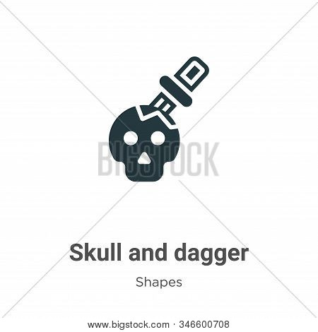 Skull and dagger icon isolated on white background from shapes collection. Skull and dagger icon tre