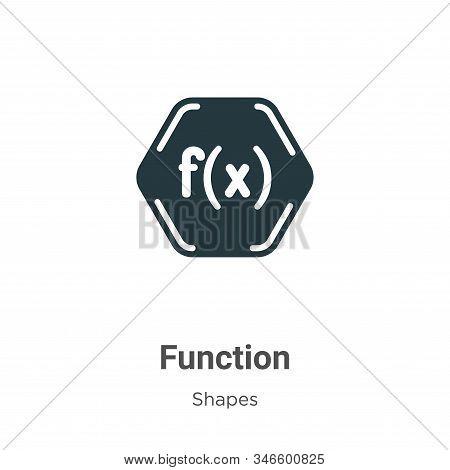 Function symbol icon isolated on white background from shapes collection. Function symbol icon trend