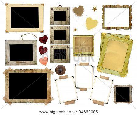 A Set Of Vintage Photo Frames