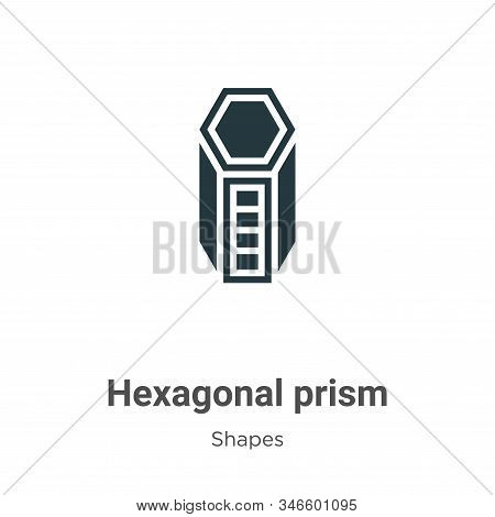 Hexagonal Prism Glyph Icon Vector On White Background. Flat Vector Hexagonal Prism Icon Symbol Sign