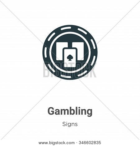 Gambling icon isolated on white background from signs collection. Gambling icon trendy and modern Ga