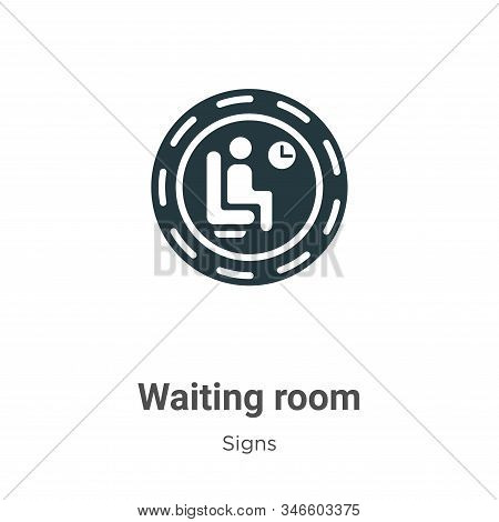 Waiting room icon isolated on white background from signs collection. Waiting room icon trendy and m