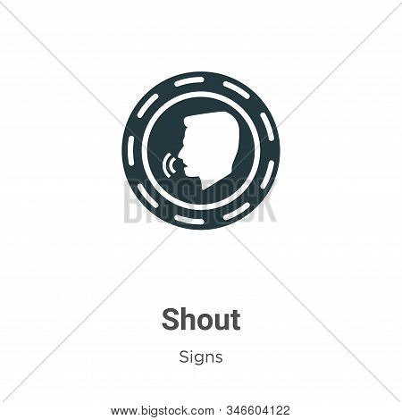 Shout icon isolated on white background from signs collection. Shout icon trendy and modern Shout sy
