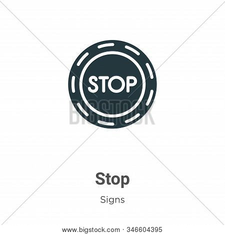 Stop icon isolated on white background from signs collection. Stop icon trendy and modern Stop symbo