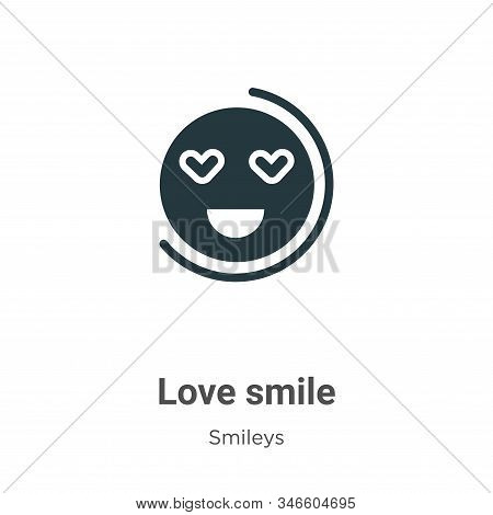 Love smile icon isolated on white background from smileys collection. Love smile icon trendy and mod