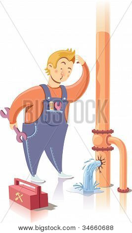 Repairman in confusion