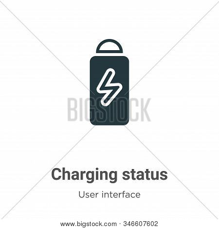 Charging status icon isolated on white background from user interface collection. Charging status ic