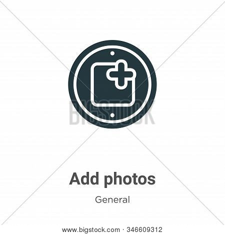 Add photos icon isolated on white background from general collection. Add photos icon trendy and mod
