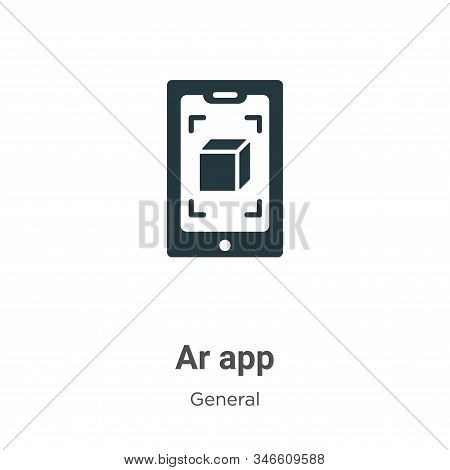 Ar app icon isolated on white background from general collection. Ar app icon trendy and modern Ar a