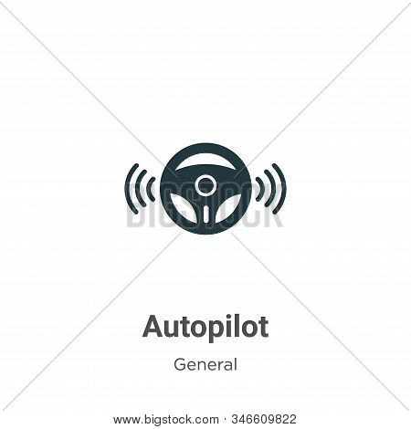Autopilot icon isolated on white background from general collection. Autopilot icon trendy and moder