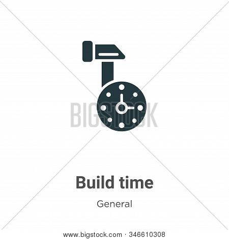 Build time icon isolated on white background from general collection. Build time icon trendy and mod