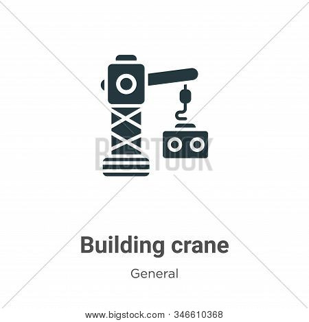 Building crane icon isolated on white background from general collection. Building crane icon trendy