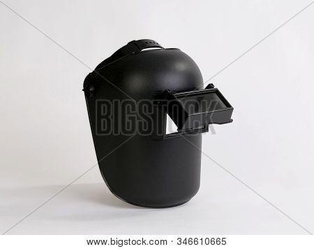 Black Welding Mask Isolated On White Background
